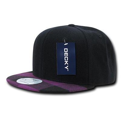 1045 Plaid Flat Bill Snapback