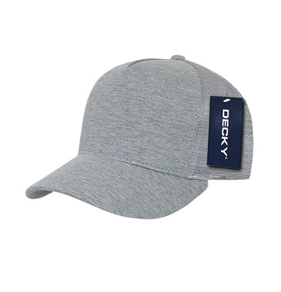 1050 5 Panel Heather Jersey Trucker Cap