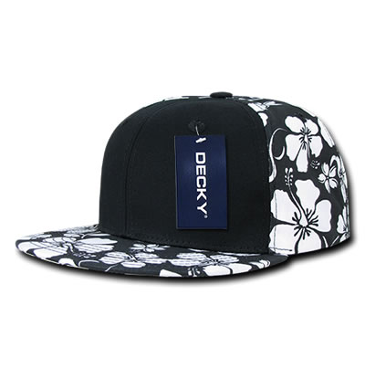 1067 Solid Front Floral Snapback