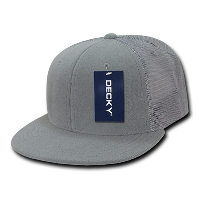 1081 6 Panel Flat Bill Terry Trucker