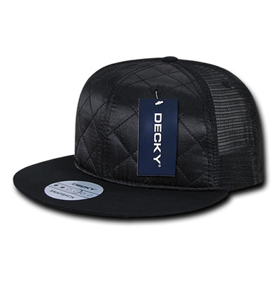 1141 Quilted Flat Bill Trucker Cap