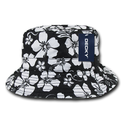 455 Floral Polo Bucket Hat