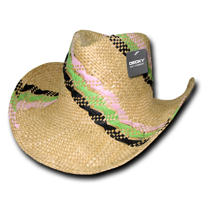 521 Hillary Yellow Straw Cowboy Hat