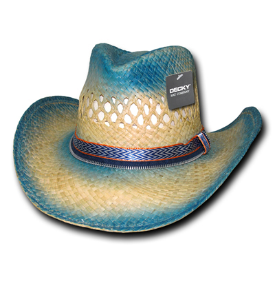522 Sea Breeze Raffia Cowboy Hat