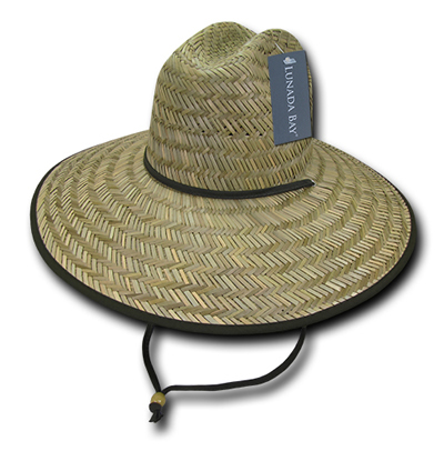 528 Mat Straw Lifeguard Hat
