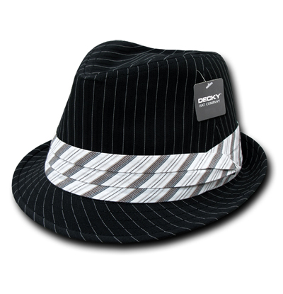 556 Pinstriped Fedora Hat