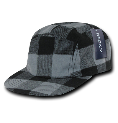 984 Plaid 5 Panel Racer Cap